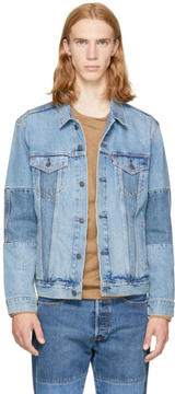 Levi's Levis Blue Denim Altered Trucker Jacket