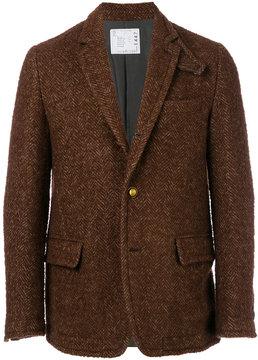Sacai Herringbone tweed blazer