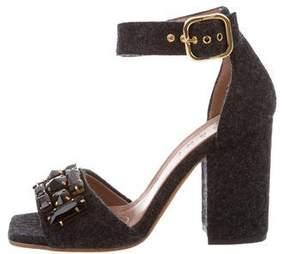 Marni Embellished Felt Sandals w/ Tags