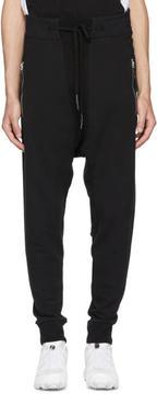 11 By Boris Bidjan Saberi Black Panelled Lounge Pants