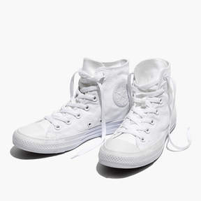 Madewell Converse® Unisex Chuck Taylor All Star High-Top Sneakers in White Monochrome