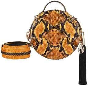 Amanda Wakeley Ochre Python Round Ross Handbag