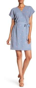 Bobeau Printed Wrap Dress