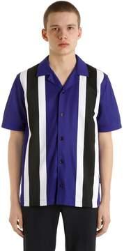 Ami Alexandre Mattiussi Striped Nylon Shirt