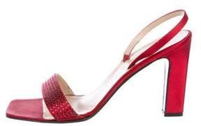 Celine Satin Embellished Sandals