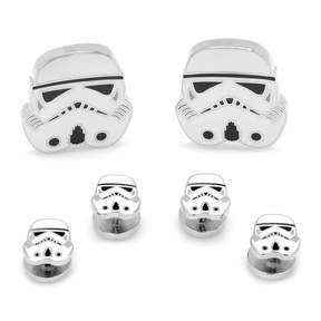Star Wars STARWARS Storm Trooper Stud & Cuff Links Gift Set