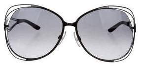 Roberto Cavalli Oversize Rosa Sunglasses