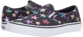 Vans Kids Classic Slip-On Parisian Night) Girl's Shoes