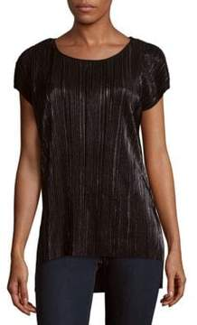 Context Pleated Roundneck Top
