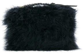 Nina Ricci textured woven zip tassel clutch