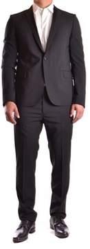 Les Hommes Men's Black Cotton Blazer.