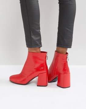 boohoo Red Patent Boot