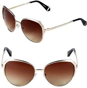 Zac Posen Women's Issa 57MM Oval Sunglasses