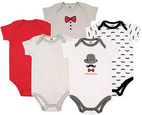 Hudson Baby Gray Dapper Bodysuit Set - Infant
