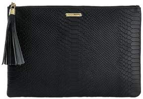 Uber Clutch in Embossed Python Leather