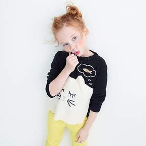 J.Crew Girls' dreamy cat popover sweater