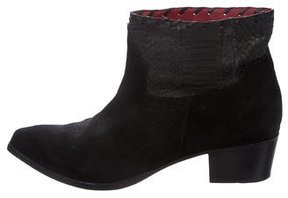 Zadig & Voltaire Distressed Pointed-Toe Ankle Boots