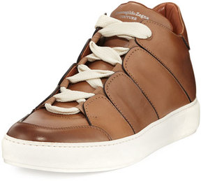 Ermenegildo Zegna Tiziano Runway Leather High-Top Sneaker