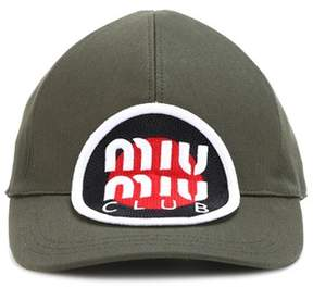 Miu Miu Appliquéd baseball cap