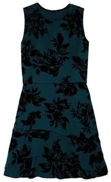 Aqua Girls' Floral Scuba Dress, Big Kid - 100% Exclusive