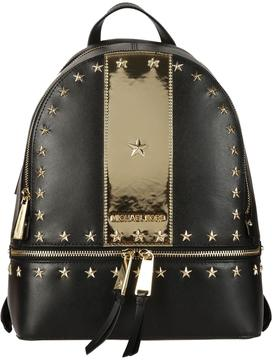 Michael Kors Rhea Medium Studded Backpack - BLACK/GOLD - STYLE