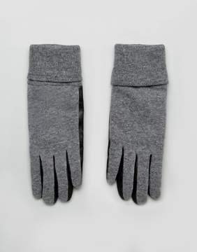 French Connection Knit And Leather Gloves