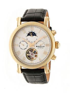 Heritor Winston Mens Black Strap Watch-Herhr5203