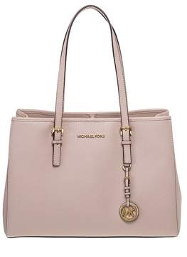 Michael Kors Jet Set Travel Saffiano Leather Tote - SOFT/PINK - STYLE