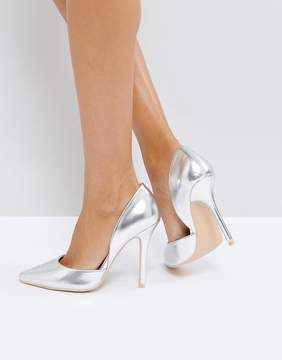 Glamorous Silver Heeled Pumps
