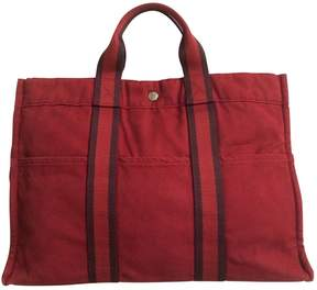 Hermes Red Cloth Handbag - RED - STYLE