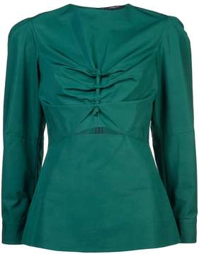 Derek Lam Long Sleeve Top With Cut Out Detail