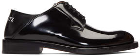 Vetements Black Babouche Derbys