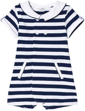 Mayoral Navy Stripe Teddy Collar Sailor Suit