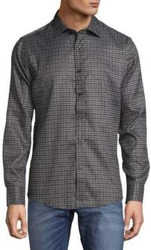 Saks Fifth Avenue Microfiber Checkered Button-Down Shirt