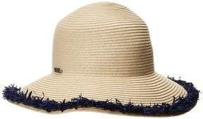 San Diego Hat Company PBM1042OS Paperbraid w/ Pop Color Frayed Raffia Caps