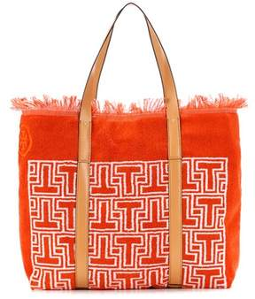 Tory Burch Towel T terry tote - ORANGE - STYLE