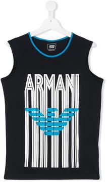 Emporio Armani Kids Teen logo print tank top