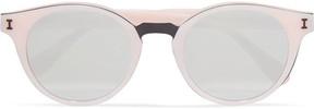 Illesteva Amalfi Round-frame Acetate Mirrored Sunglasses - Pastel pink