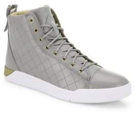 Diesel Tempus Diamond Leather Mid-Top Sneakers