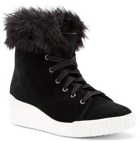 Bettye Muller Rachel Faux Fur Suede Boot