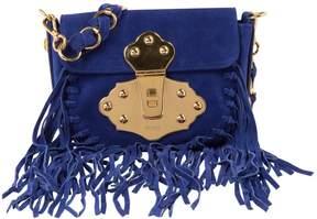 Emilio Pucci Blue Suede Handbag
