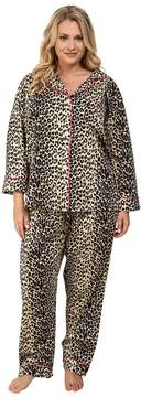 BedHead Plus Size Notch Collar Pajama