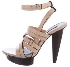 Calvin Klein Collection Leather Platform Sandals