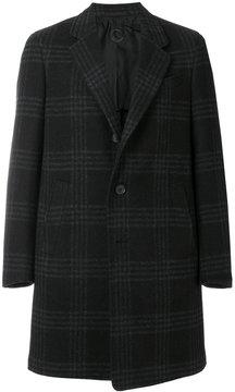 Caruso glen check pattern coat