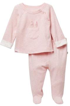 ED Ellen Degeneres Bunny Top & Bottom Set (Baby Girls)