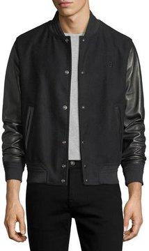 Bally Lambskin Leather & Felt Varsity Jacket