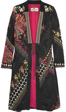 Etro Embroidered Satin-jacquard Jacket - Black