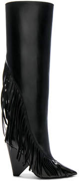 Saint Laurent Niki Fringe Leather Boots