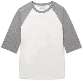 J.Crew Two-Tone Cotton-Jersey T-Shirt