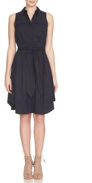 Cynthia Steffe Women's Collared Cotton Blend Fit & Flare Dress